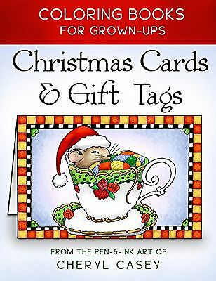 Christmas Cards & Gift Tags: Coloring Books for Grownups Adults