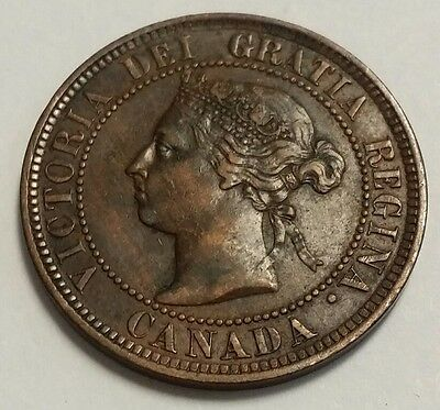 1884 Canada Large Cent 1C Free Shipping!