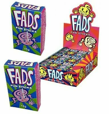 48 Packs x FAD FUN STICKS Bulk Lollies Party Favours Lolly Bags Favor Boxes