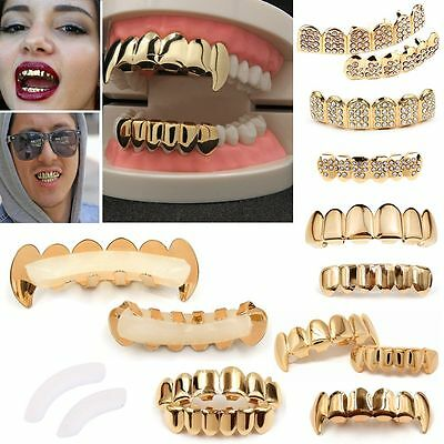 Cool Gold Grillz 24k Plated Teeth Mouth Grills Bling Hip Hop Gangsta Gangster UK