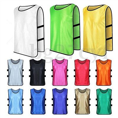 1PC/10PC Summer SPORTS Soccer Football Basketball Vest TRAINING BIBS Kids/Adult