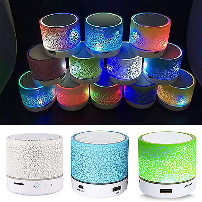 Haut-parleur Stéréo Mini Enceinte Speaker LED Bluetooth Sans Fil Pour iPhone MP3