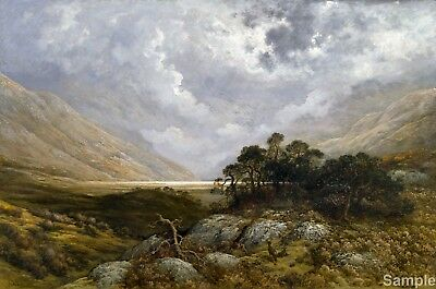 Gustave Dore Landscape in Scotland 1878 Poster Painting  Fine Art Reprint A4