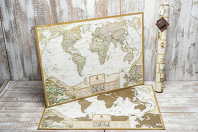 New Personalized Scratch Off World Map Poster Traveler Antique art 6457