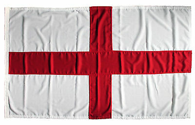 St Georges flag MoD approved sewn england stitched rope toggle 5x3ft outdoor