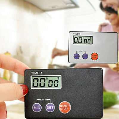 Magnetic Digital LCD Kitchen Timer Count Down Egg Cooking Fridge Beep Alarm