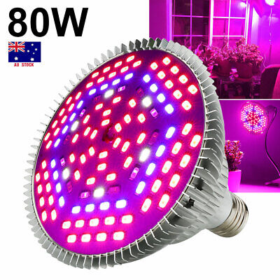 30W/50W/80W E27 Full Spectrum LED Grow Light Bulb Indoor Garden Medical Plants