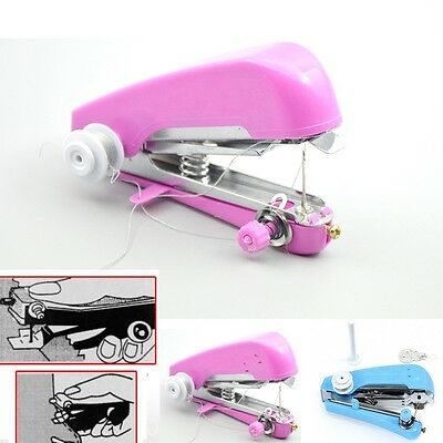 Mini Portable Handheld Single Stitch Fabric Sewing Machine Travel Home