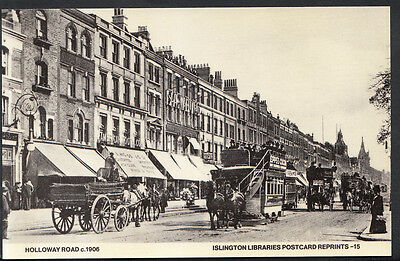 London Postcard - Holloway Road c.1906, Islington    RS1992