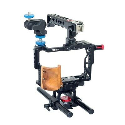 Filmcity DSLR Video Cage Kit Rig Handle Grip for Sony a7R II a7S II a7II Camera