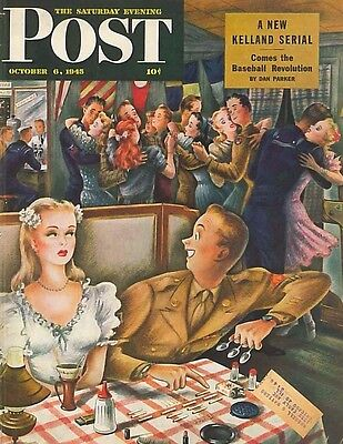 The Saturday Evening Post October 6 1945 Constantin Alajalov Birthday Gift