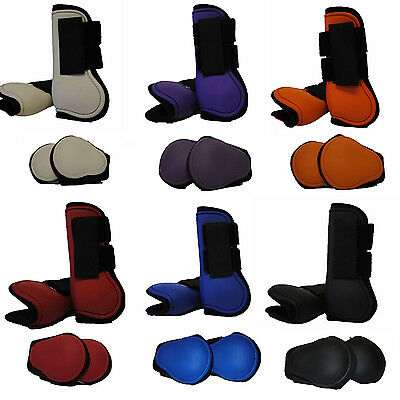 Great Quality Nylon Horse Tendon And Fetlock Boot Set Full 6 Colours Available