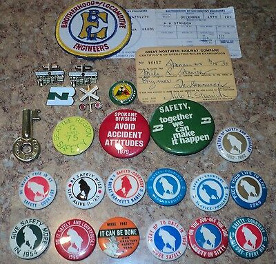 Bn Great Northern Train Safety Pin Lifetime Collection  Locomotive Engineer