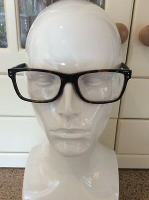 Great Ralph Lauren Polo Brown Tortoise Shell Prescription Glasses Frames Used