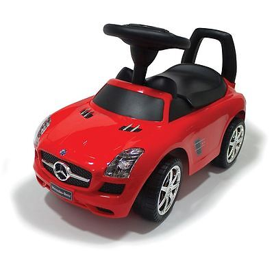 MERCEDES BENZ SLS AMG Childrens Ride On Push Along Toy Car Kids Red