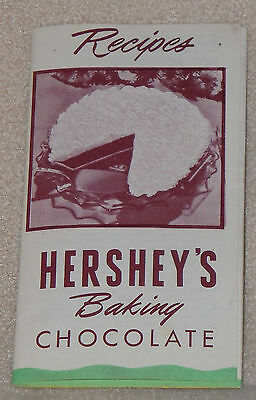 Hershey's Baking Chocolate Cream Pie Cookies Cake Dessert Recipe Pamphlet AD