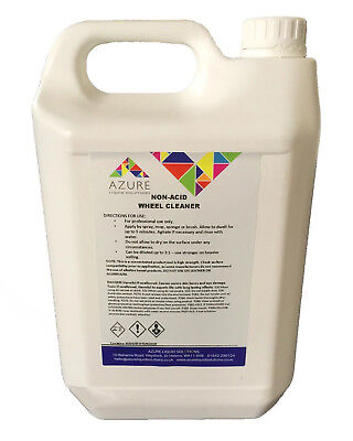 Azure Alloy Wheel Cleaner Removes Grime Grease Dust Fast & Effective Non Acid-5L