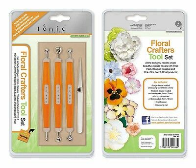 Tonic FLORAL CRAFTERS TOOL SET Embossing Tools LARGE MEDIUM SMALL heads 266E