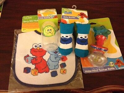Sesame Street Sesame Beginnings Baby Shower Gift Set (4 pieces) NEW!!!