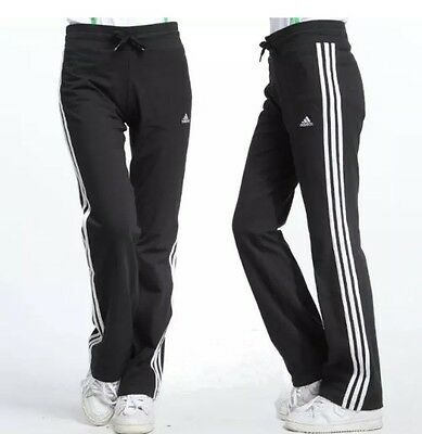 adidas ESS 3S KN Womens Tracksuit Bottom Black Sweat Pants joggers BNWT