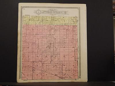 Missouri Audrain County Map Saling East or West Township 1918 Dbl Sde K11#12