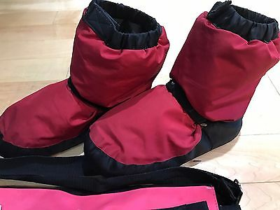 Bloch Red/Black Warm-up Bootie Boots ~ Adult Size Small (Adult Shoe Size 4-6)