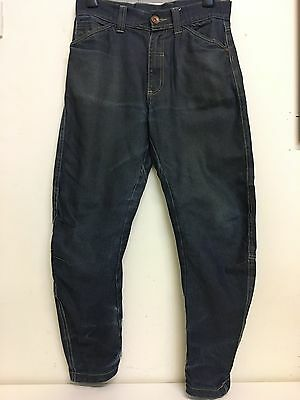 Carbrini Boys Blue Casual Denim Tapered Twisted Jeans Trousers Age 12-13 Years