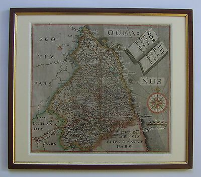 Northumberland: antique map by Saxton & Hole, 1610