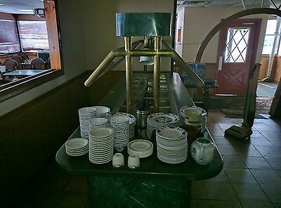 Hot Buffet Table with Plate Holders