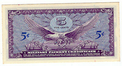 Series 641, 5 Cent, Military Payment Certificate Note, Uncirculated