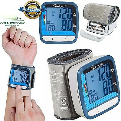 "Wrist Blood Pressure Monitor Automatic Digital Professional Pulse 5""-8"" Cuff New"