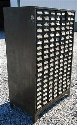 133 Drawer Industrial Age Metal Cabinet Cubbyholes Filing Cabinet Parts Bin