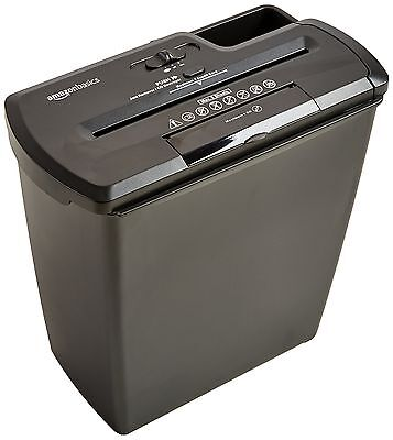 AmazonBasics 8-Sheet Strip-Cut Paper CD and Credit Card Shredder