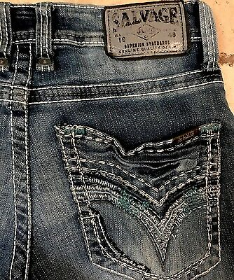 Salvage Havoc Slim Straight Buckle Jeans** Men's Size 25 X 32 ** Awesome! ** Hot