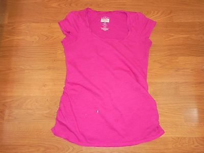 Old Navy Maternity pink t-shirt with runching size M sold as is