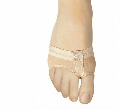 Capezio Nude FootUndeez Lyrical Dance Shoe Kids Size L (Fits Size 13-1)
