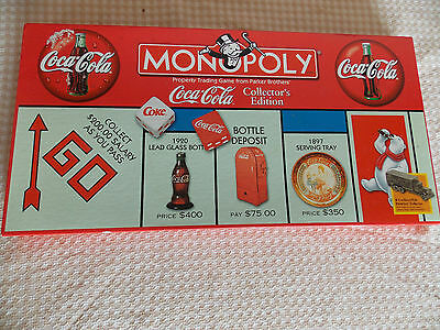 1999 Coca-Cola Collector's Edition Monopoly Board Game - Opened but never used