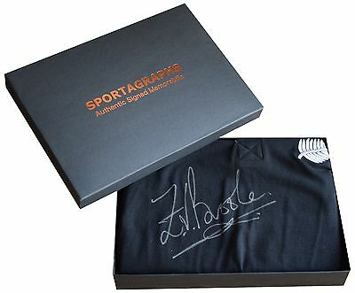 Zinzan Brooke SIGNED Rugby Shirt & Gift Box New Zealand All Blacks PROOF COA