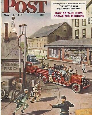 The Saturday Evening Post May 14 1949 Cover by Stevan Dohonas Vintage Americana