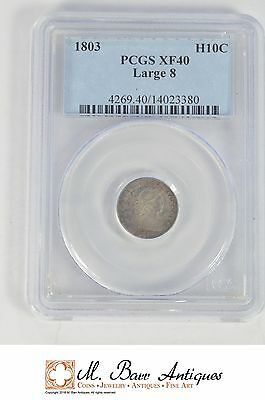 XF40 1803 Draped Bust Half Dime - Graded PCGS *XC97