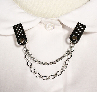 """Double Chain Cardigan Sweater Guard with 1"""" Clip - Retro Style by Hey Viv !"""
