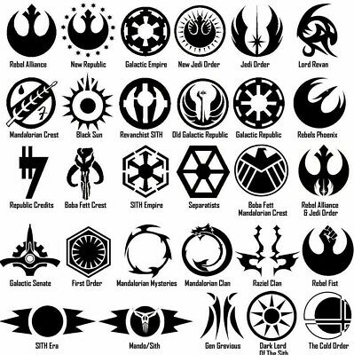 Star Wars Symbol Vinyl Decal Sticker Door Window Starwars Galactic USA Seller