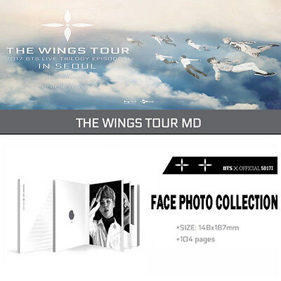 2017 BTS LIVE TRILOGY EPISODE III THE WINGS TOUR in Seoul Goods[FACE PHOTO BOOK]
