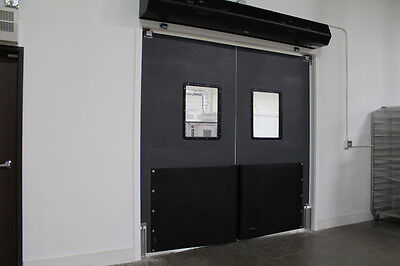"Warehouse Traffic Doors - Impact Swinging Doors 83"" X 83"" (Double Panel)"