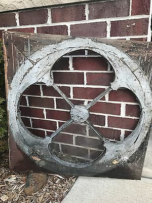 Large Gothic Wood Victorian Window Frame Circle Architectural Salvage