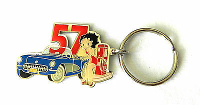 """57"" Corvette Betty Boop Key Chain - New"