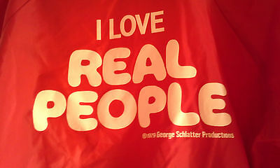 """""""I LOVE REAL PEOPLE"""" Vintage NBC Peacock TV Show Jacket 1979 Large SIGNED"""