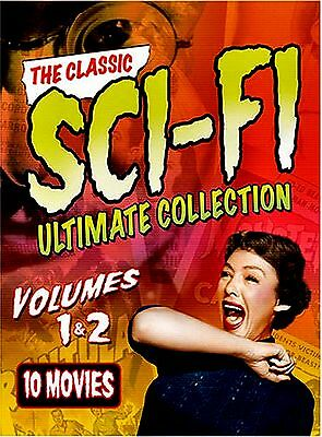 NEW 6DVD SET // ULTIMATE SCI-FI 1&2 - 10 REMASTERED CREATURE FEATURES FROM 50's