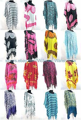 US SELLER- 10pcs wholesale summer chic clothing plus size kaftan top dress