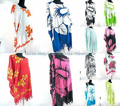 US SELLER- 10pcs wholesale plus size kaftan top dress Beach Wear Dresses